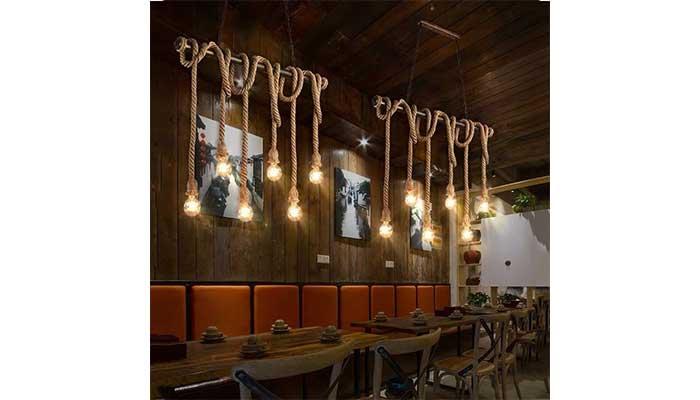 luces restaurante 6 - Cómo decorar un restaurante: La guía definitiva.