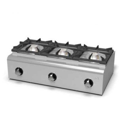Cocina a Gas Sobremesa 3 Fuegos